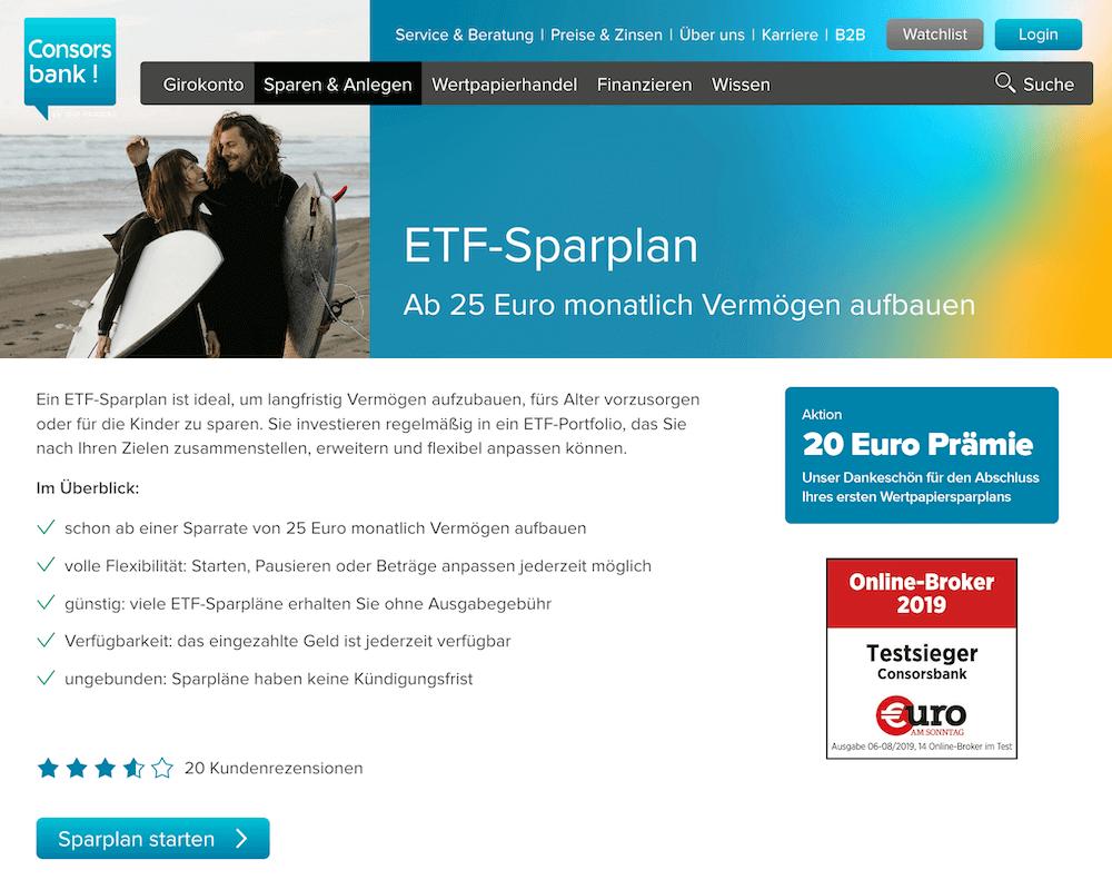 Consorsbank Etf Sparplan Erfahrungen