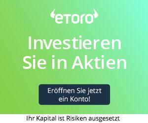 eToro: Jetzt in Aktien provisionsfrei investieren