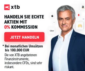 XTB: Echte Aktien & ETFs für 0% Kommission handeln